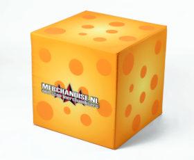 schuimrubber kubus poef 'kaas'