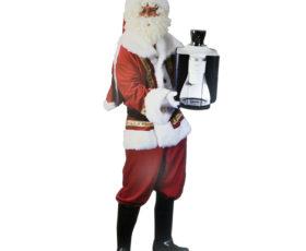 uitgesneden fotobord kerstman