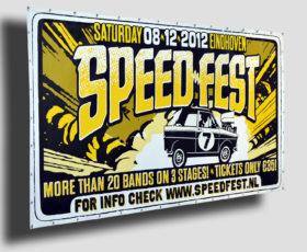 frontlit spandoek speedfest