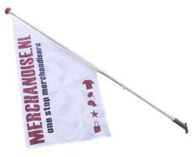 Gevelvlag met vlaggenstok