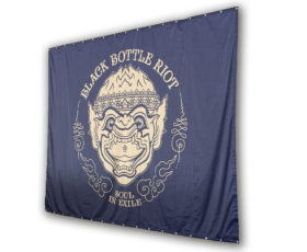 heavytex backdrop black bottle riot