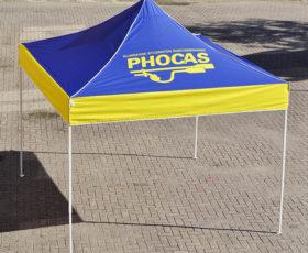 partytent bedrukt phocas