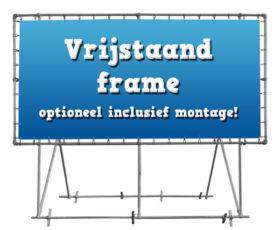 frame vrijstaand voor spandoeken